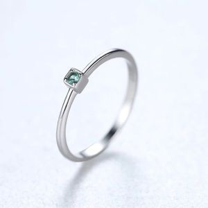 New Genuine 925 Sterling Silver VVS Green Topaz